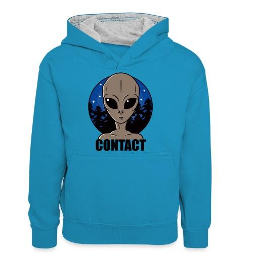 Contact Extraterrestre - Sweat à capuche contrasté Ado