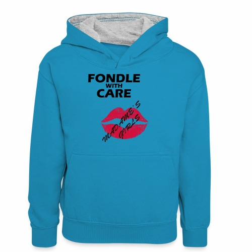 Fondle with Care - Teenager Contrast Hoodie