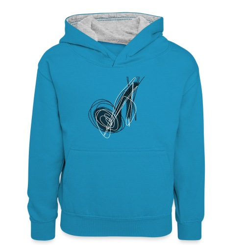 MUSIC NOTE ABSTRACT - Teenager Kontrast-Hoodie