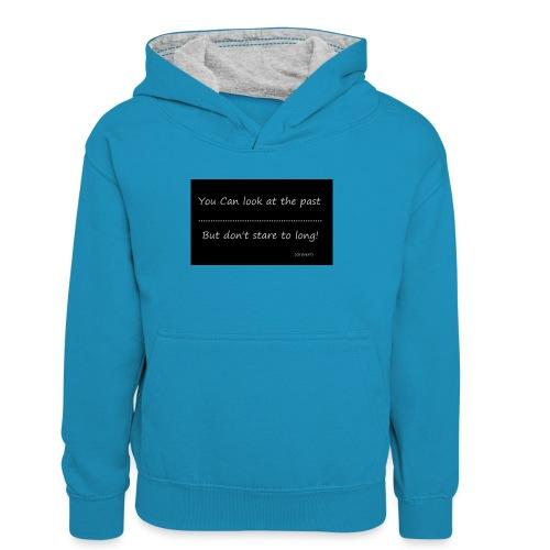 past - Teenager contrast-hoodie