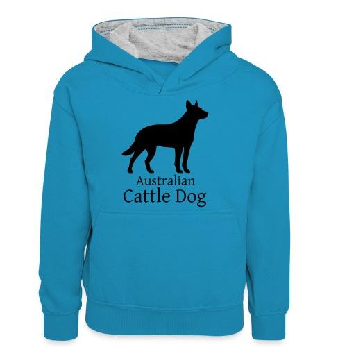 Australian Cattle Dog - Teenager Kontrast-Hoodie