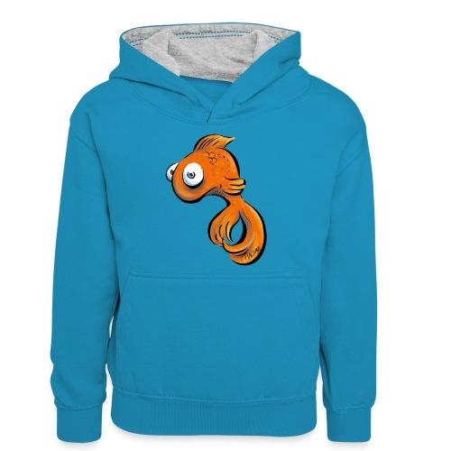 Frustfisch - Teenager Kontrast-Hoodie