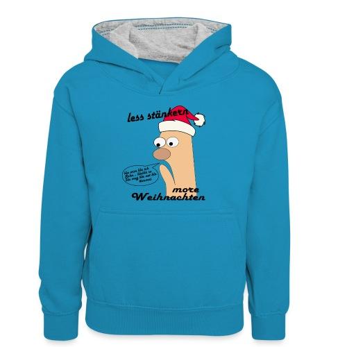 more Weihnachten - Teenager Kontrast-Hoodie