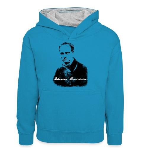 Charles Baudelaire - Sweat à capuche contrasté Ado