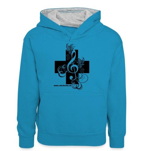 Swiss Beatz Logo non L - Teenager Kontrast-Hoodie