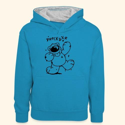 Dreckbär - Teenager Kontrast-Hoodie
