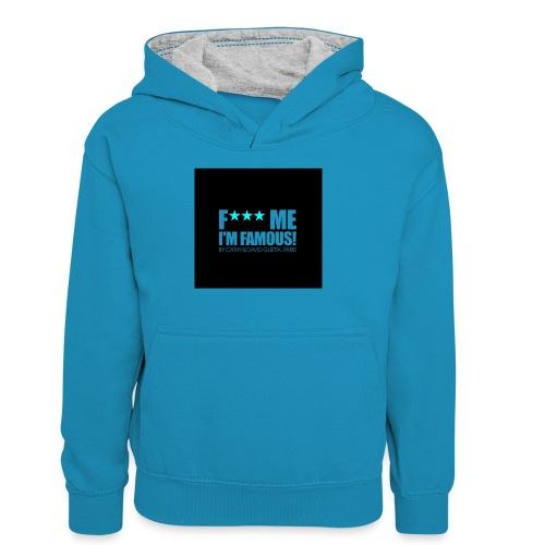 FMIF Badge - Sweat à capuche contrasté Ado