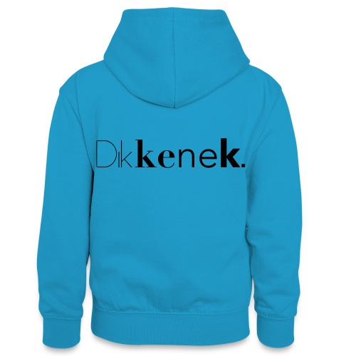dikkenek - Sweat à capuche contrasté Ado