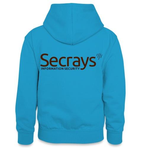 Secrays vektori logo - Teinien kontrastivärinen huppari