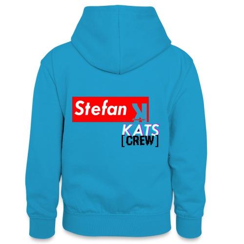 Stefan Sup - Młodzieżowa bluza z kontrastowym kapturem