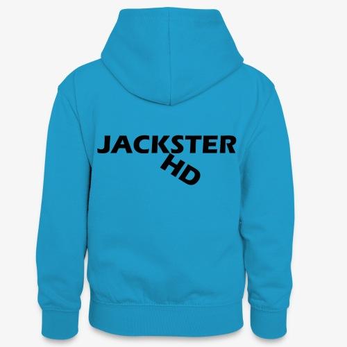 jacksterHD shirt design - Teenager Contrast Hoodie