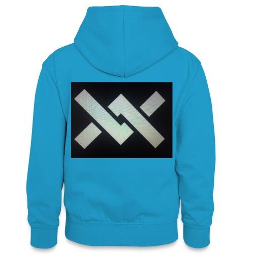 Original Movement Mens black t-shirt - Teenager Contrast Hoodie