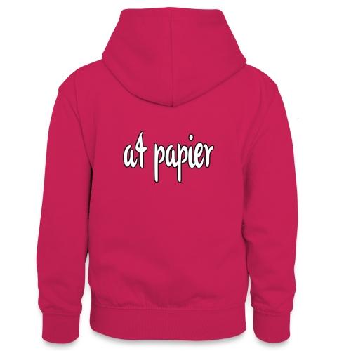 A4Papier - Teenager contrast-hoodie