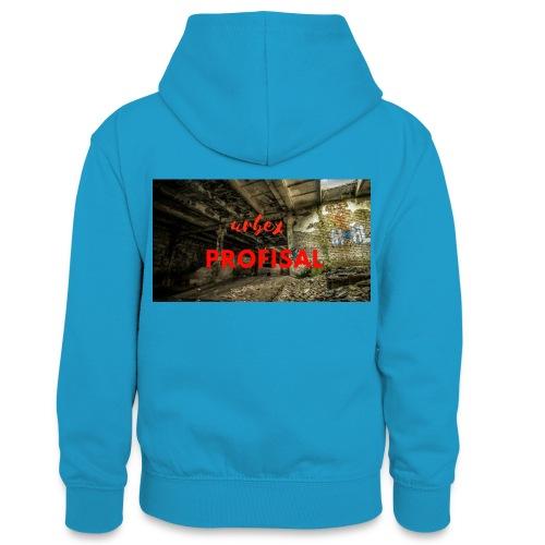profisal - Młodzieżowa bluza z kontrastowym kapturem