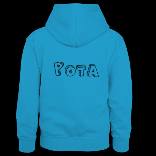 pota1 - Felpa con cappuccio in contrasto cromatico per ragazzi