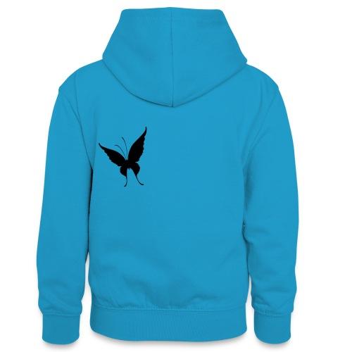 Schmetterling - Teenager Kontrast-Hoodie