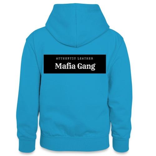 Mafia Gang - Nouvelle marque de vêtements - Sweat à capuche contrasté Ado