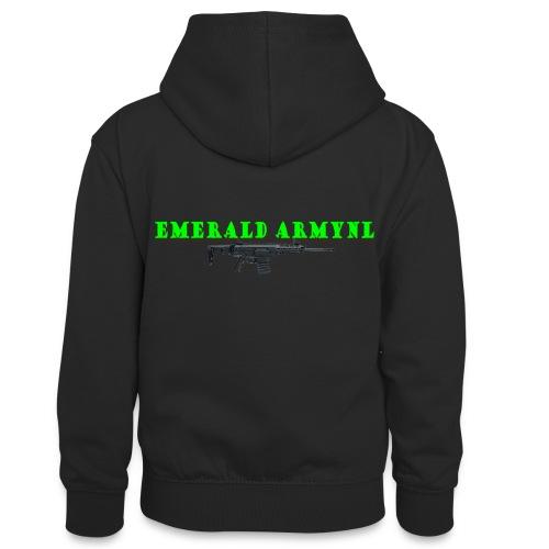 EMERALDARMYNL LETTERS! - Teenager contrast-hoodie