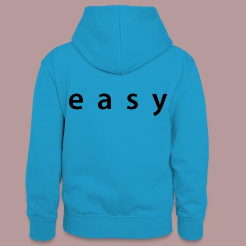Vêtement easy - Sweat à capuche contrasté Ado