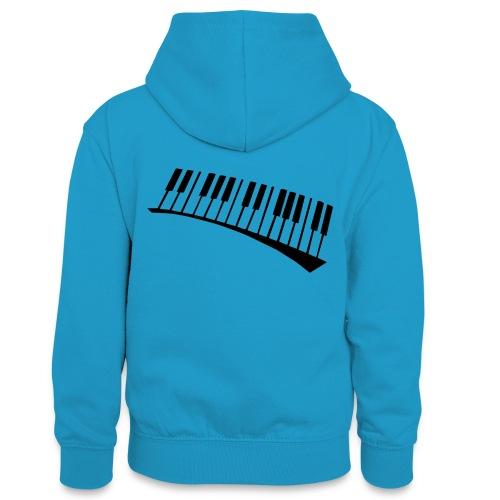 Piano - Sudadera con capucha para adolescentes