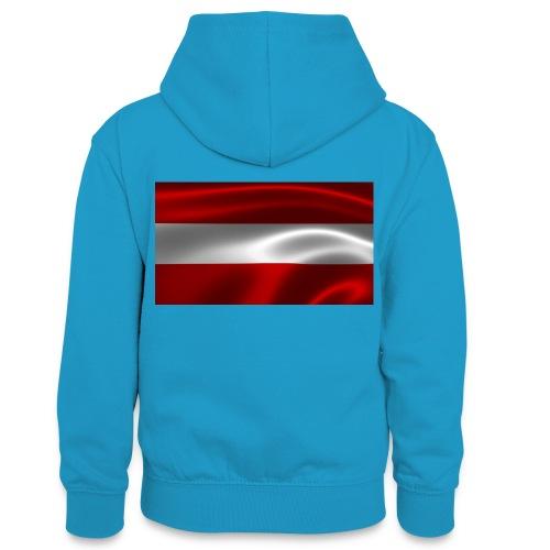 Austria I Love Austria - Teenager Kontrast-Hoodie