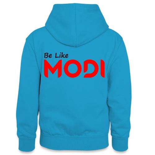 Be Like MoDi - Młodzieżowa bluza z kontrastowym kapturem