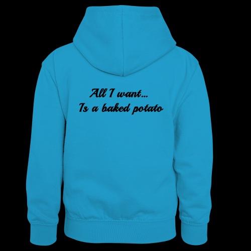 Baked potato - Teenager Contrast Hoodie