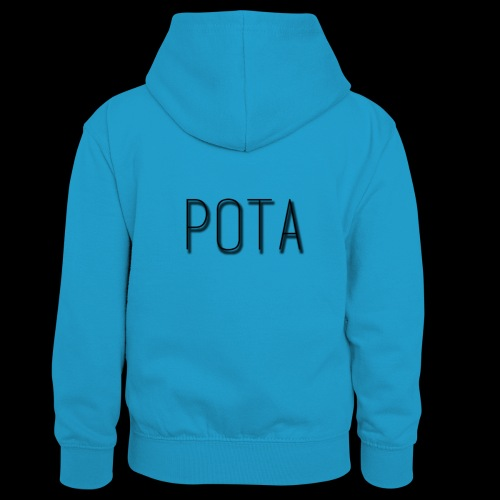pota2 - Felpa con cappuccio in contrasto cromatico per ragazzi