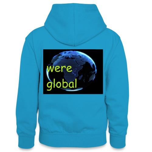 Were Global - Teinien kontrastivärinen huppari