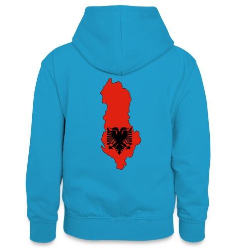 Albania - Sweat à capuche contrasté Ado