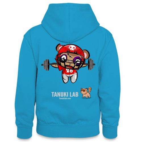 oso deportista - Sudadera con capucha para adolescentes