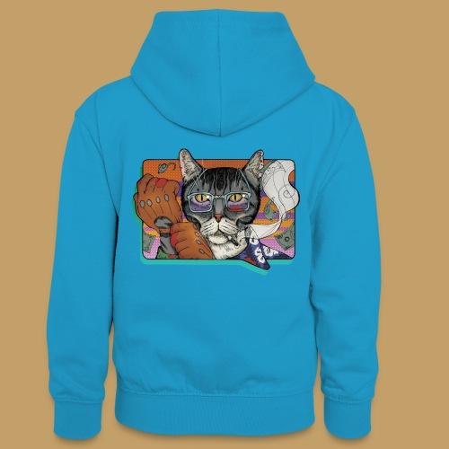 Crime Cat - Młodzieżowa bluza z kontrastowym kapturem