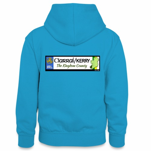 CO. KERRY, IRELAND: licence plate tag style decal - Teenager Contrast Hoodie