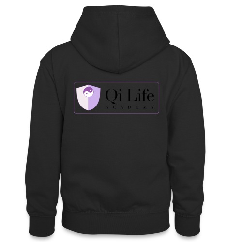 Qi Life Academy Promo Gear - Teenager Contrast Hoodie