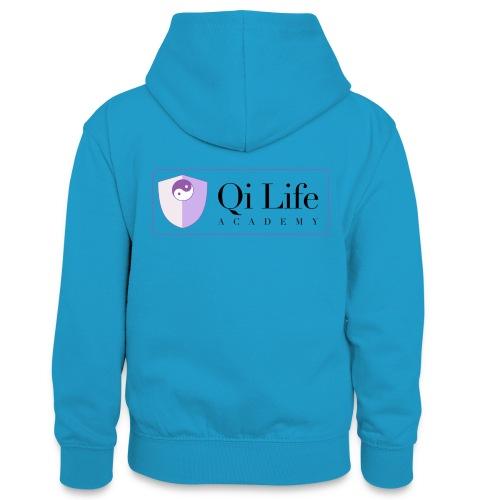 Qi Life Academy Promo Gear - Teenager Contrast Hoodie