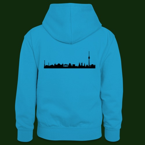 Berlin Skyline - Teenager Kontrast-Hoodie