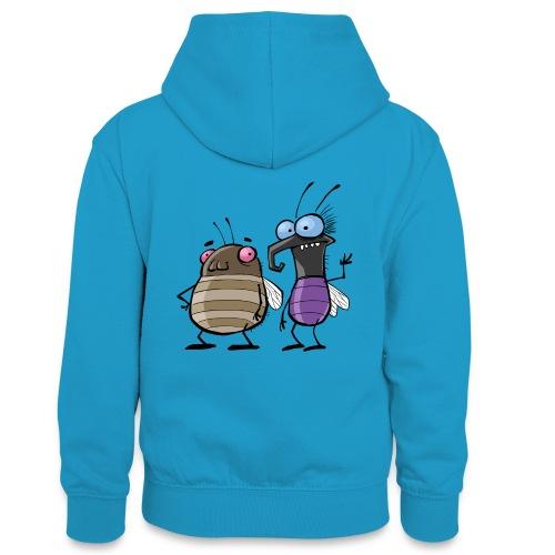 Teenager Premium Langarmshirt Insekten - Teenager Kontrast-Hoodie
