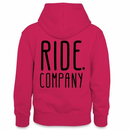 RIDE.company - just RIDE - Teenager Kontrast-Hoodie