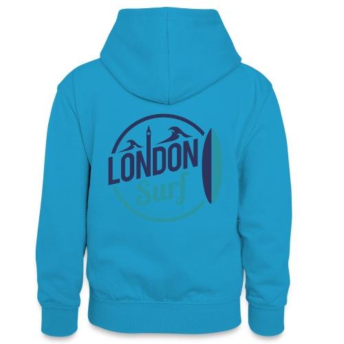 London Surf Classic Logo - Teenager Contrast Hoodie