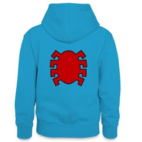 spiderman back - Teenager Contrast Hoodie