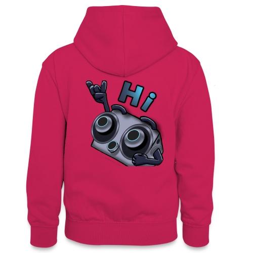 The DTS51 emote1 - Teenager contrast-hoodie