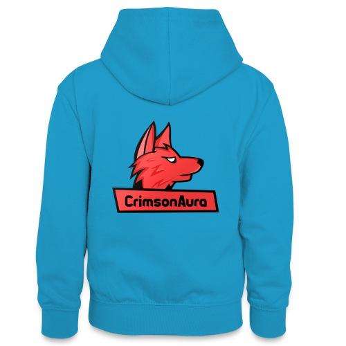 CrimsonAura Logo Merchandise - Teenager Contrast Hoodie