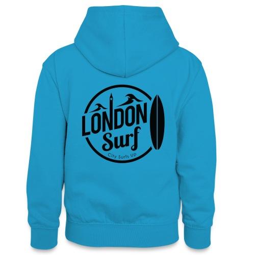 London Surf - Black - Teenager Contrast Hoodie