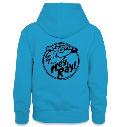 Hey Ray Logo black - Teenager Kontrast-Hoodie