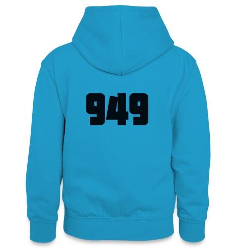 949black - Teenager Kontrast-Hoodie