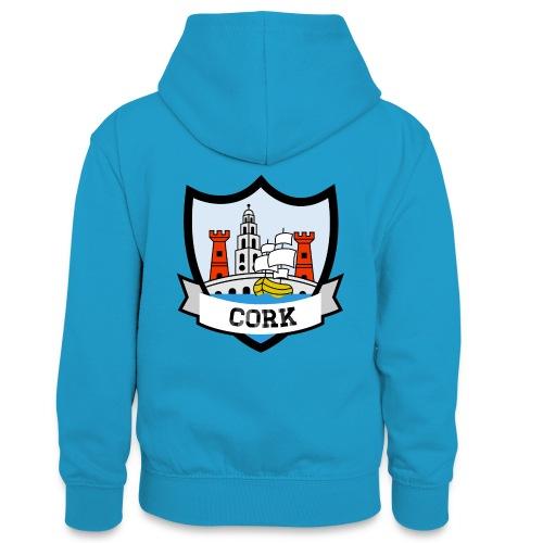 Cork - Eire Apparel - Teenager Contrast Hoodie