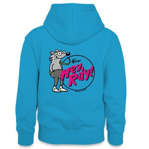 Hey Ray! Logo magenta - Teenager Kontrast-Hoodie