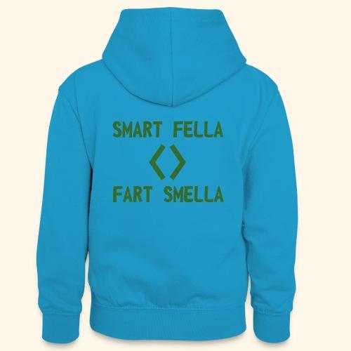 Smart fella - Felpa con cappuccio in contrasto cromatico per ragazzi