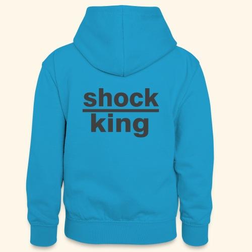 shock king funny - Felpa con cappuccio in contrasto cromatico per ragazzi