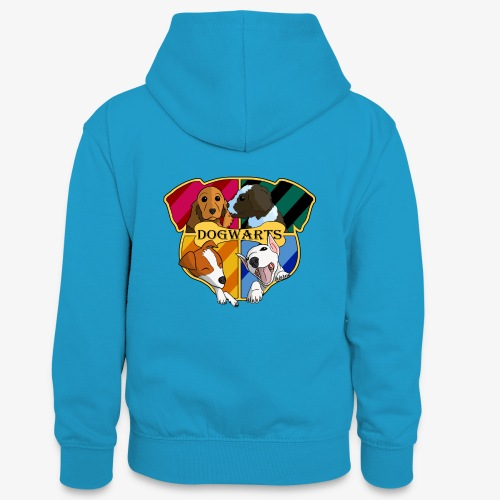 Dogwarts Logo - Teenager Contrast Hoodie